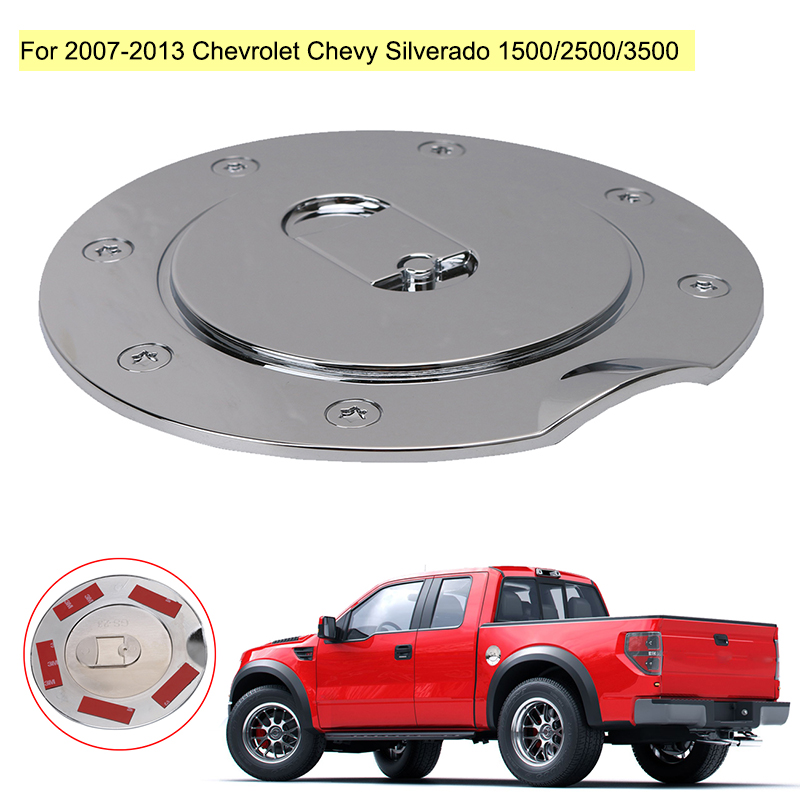 AAL FOR CHEVY SILVERADO 1500//2500//3500 2007-2013 CHROME GAS TANK FUEL DOOR COVER