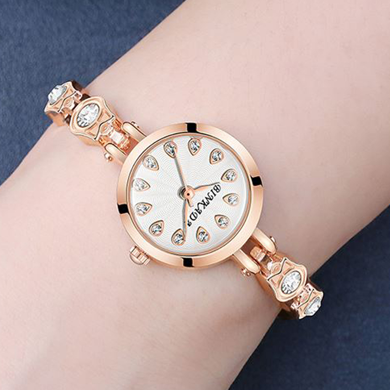 Zegarek bransoletka żeński prosty wodoodporny zegarek kwarcowy - Zegarki damskie - Zdjęcie 4