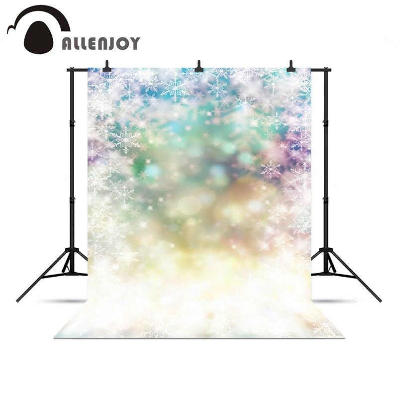 Allenjoy photographic camera Shiny sparkle glitter winter snowflakes pastel backdrop background for photo shoot background vinyl
