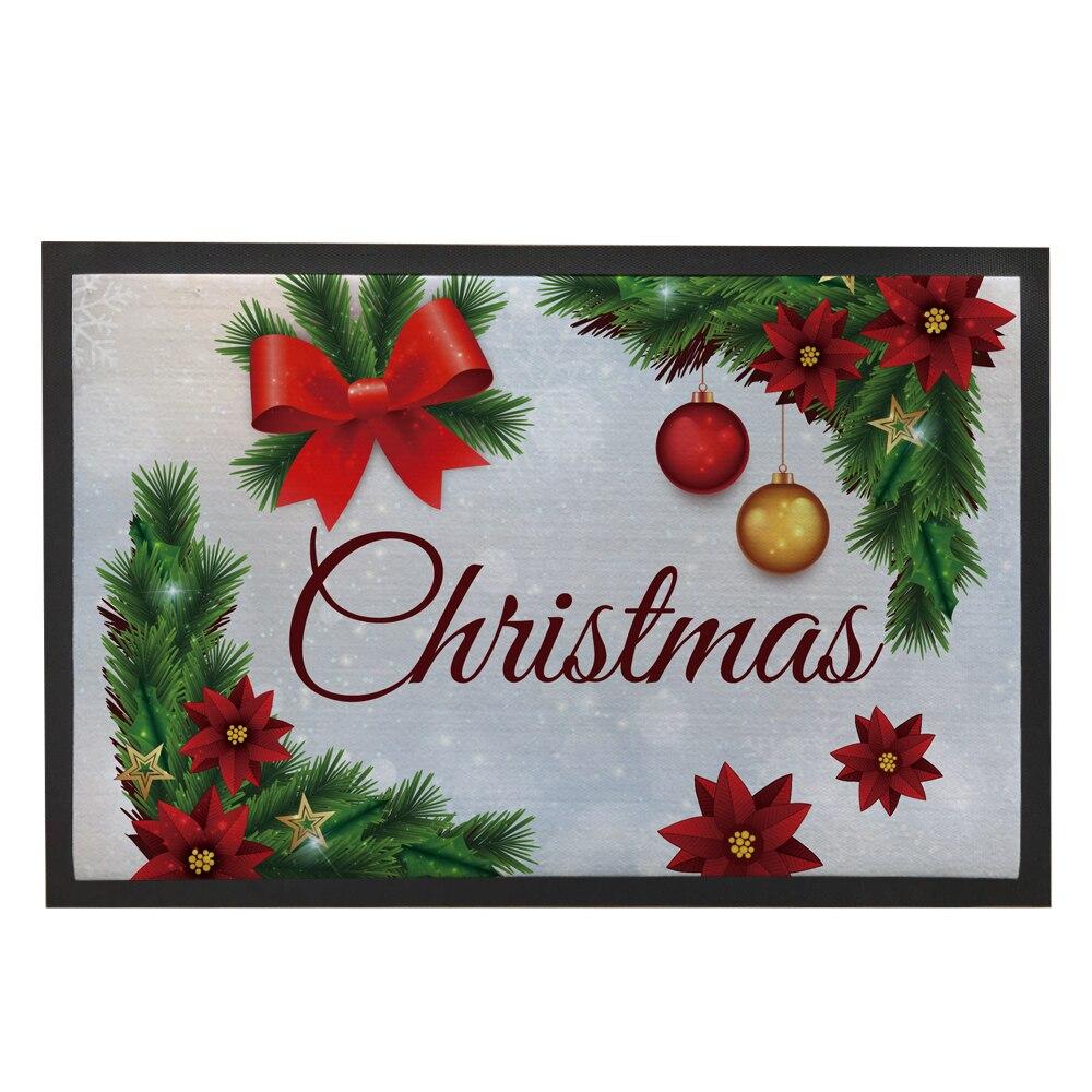 Christmas Door Mats Outdoor Festive Tree Bathroom Carpet
