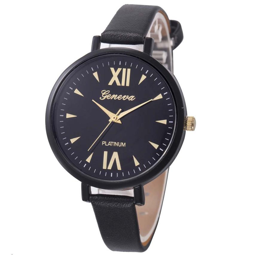Quartz Watch Women  strap Leather Analog  Simple  Wristwatches Fashion Luxury  Round Dial  Montre femme Watch  18FEB3 sanda fashion ultra thin dial watch men and women leather strap women quartz wristwatches montre femme clock women couple watch page page 2