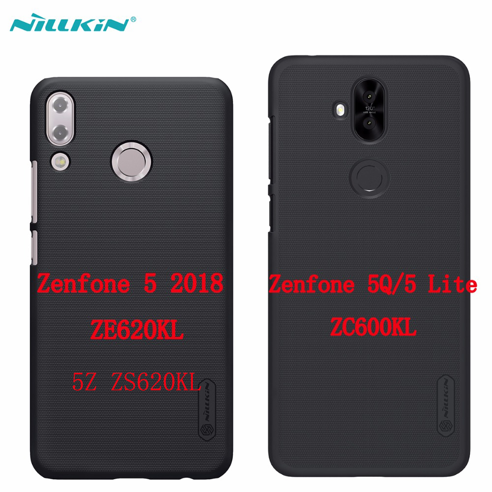 Case for Asus Zenfone 5 2018 ZE620KL 5Z ZS620KL 5Q 5 Lite ZC600KL NILLKIN Frosted Shield hard back cover gift screen protector