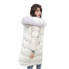 купить Brieuces 2018 winter jacket women hooded coat fur collar thicken warm long female outerwear parkas ladies chaqueta feminino по цене 2356.45 рублей