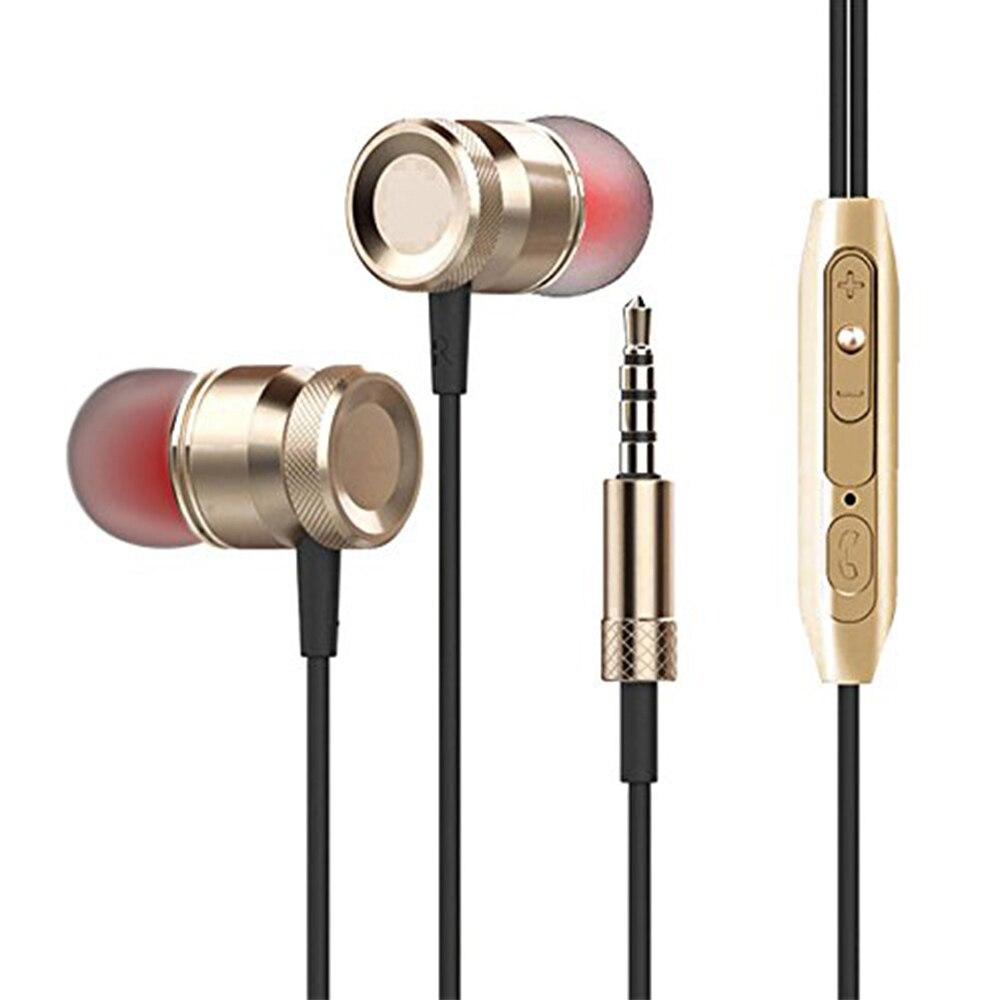 Metall Magnetische Headset Mit Mikrofon Heben Bass Stereo Geräuschisolation Verdrahtete Kopfhörer Für Samgung iPhone Xiaomi