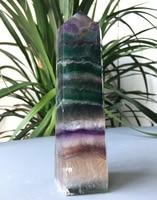 807g Beauteous Magic Fluorite Crystal Quartz Healing Wand Point