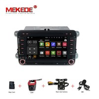 MEKEDE Android7.1 Quad core 4G car dvd player gps navigator for VW golf 5 6 Touran Passat Jetta Polo Tiguan free can bus mic