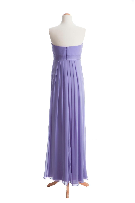 Hermosa Vestidos De Dama De Gasa Sin Tirantes Ideas Ornamento ...