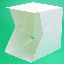 Портативный складной студийный софтбокс мини-Фотостудия коробки светильник светодиодный светильник для фотографии светильник ing палатка комплект черный белый фон