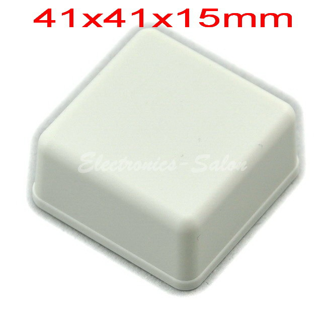 Small Desk-top Plastic Enclosure Box Case,White, 41x41x15mm, HIGH QUALITY.