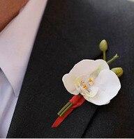 -Phalaenopsis sztuczny kwiat kwiat jedwabiu ślub kwiat corsages