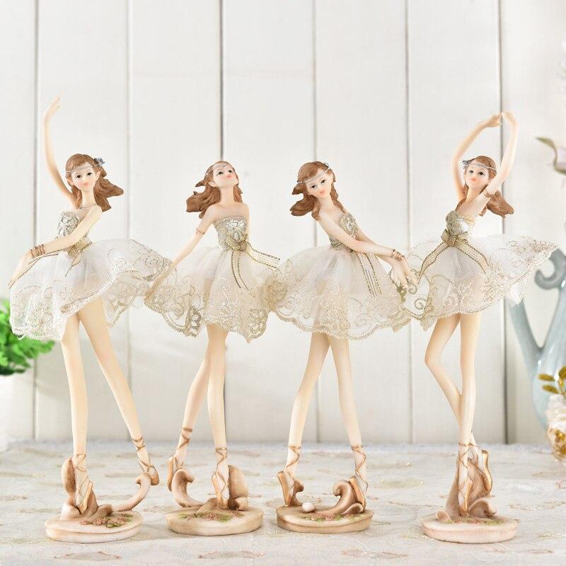 Ballerine fille résine ornements style européen salon ornements table top décor maison mariage décoration salon artisanat