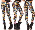 EAST KNITTING BL-140 2015 Women's Adventure Time Bro Ball Leggings Montage Black Leggings Plus Size  XL