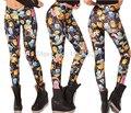 East knitting bl-140 2015 mujeres adventure time bro bola leggings montage negro leggings plus size xl