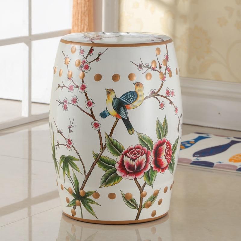 Muebles de dormitorio chino de cerámica del jardín taburete asientos ...