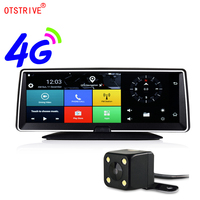 Otstrive 8 inch 4G SIM Card Internet GPS Android 5.1 WiFi Bluetooth Phone Dashboard Full HD 1080P Dual Lens Remote Control DVR