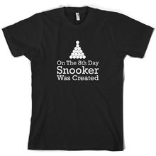On The 8th Day Snooker Was Created - Mens T-Shirt  Pool 8 Ball Print T Shirt Short Sleeve Hot Tops Tshirt Homme