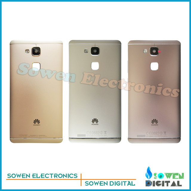 new Genuine Aluminum Rear Back battery cover door housing with Back Camera Glass Lens for Huawei Ascend Mate 7
