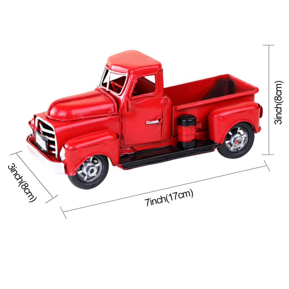 Ourwarm Retro Little Red Truck Christmas Decoration For Home Table