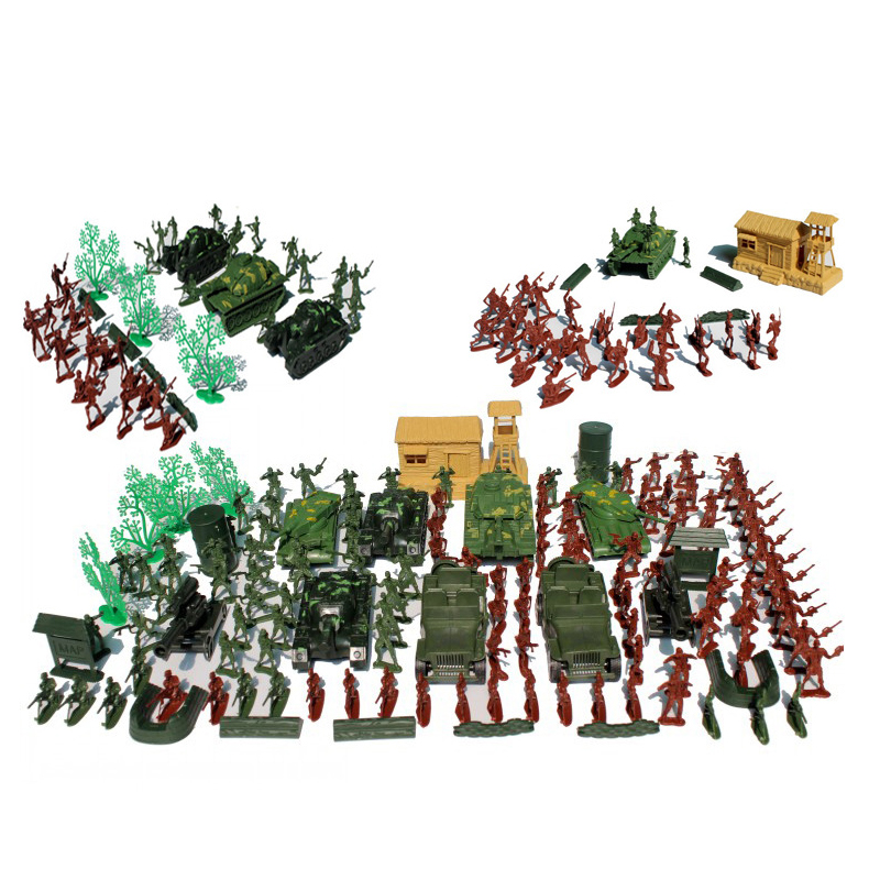 Toys & Hobbies 100% True World War Ii 145pcs/set Soldier Boy Sand Table Model Toy Full 4cm Soldier Military Bases Set Nostalgic Toys To Rank First Among Similar Products