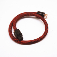 5000W 5N Copper Australian plugs Power Cable Gold plated AU power plug cable hifi power cord cable for DVD CD AMP