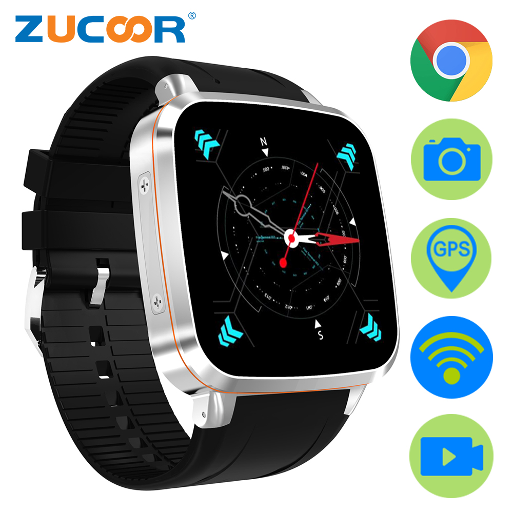 ZW92 Smart Watch Phone Android Smartwatch Waterproof 5MP Camera WiFi GPS Touch Screen 512MB/8GB Reloj Inteligente For Men/Women