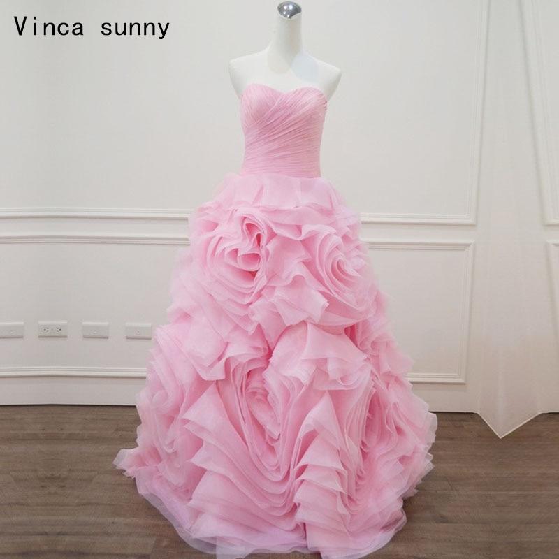 Vinca soleado Rosa vestido de novia 2018 vestidos de bola elegante ...