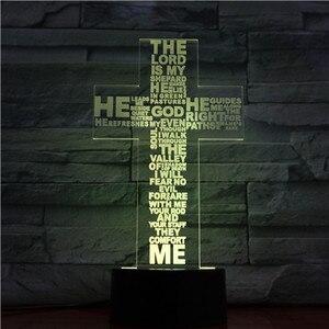 Image 4 - Jesus Christ Cross Shaped Usb 3d Led Night Light Mom Mother Gifts Christian Believer Desk Table Lamp Bedroom Neon Nightlight
