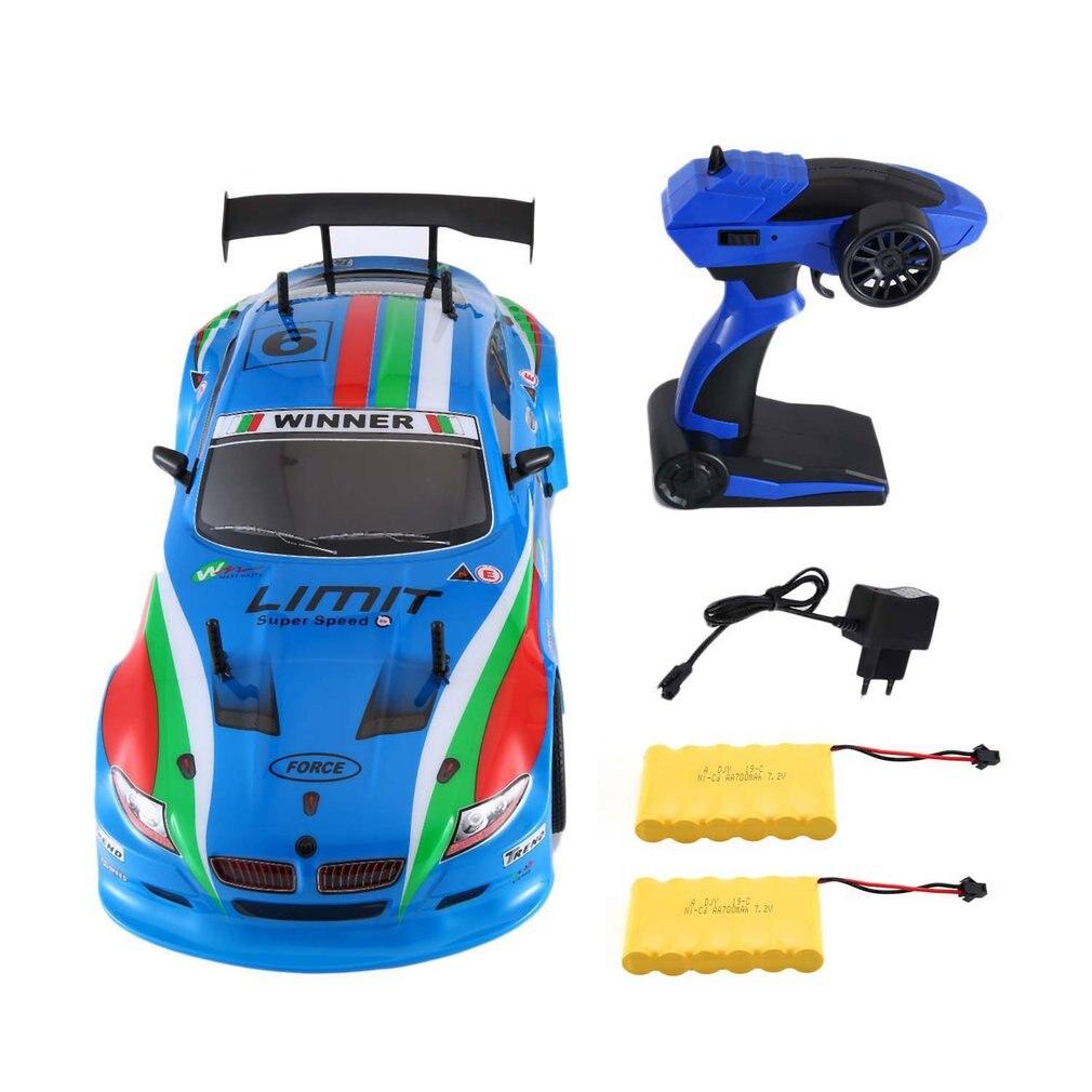 25KM/h 1/10 1400mAh 2.4G RC Racing Car Flat Sports Drift Vehicle Toys 2 Batteries EU Plug For Children RC Model Car Toy25KM/h 1/10 1400mAh 2.4G RC Racing Car Flat Sports Drift Vehicle Toys 2 Batteries EU Plug For Children RC Model Car Toy