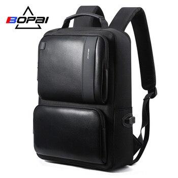 BOPAI Laptop Backpack with USB External Charging Port for 15.6 Inch Laptop Men Anti theft Waterproof Large Capacity Travel Bag laptop bag