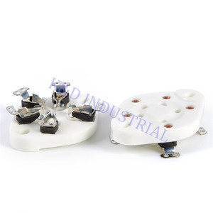 Image 4 - 5 pcs 슬리버 플레이트 5Pin 세라믹 튜브 소켓 밸브 기본 807 27 37 56 76 46 FU7 24 U5A