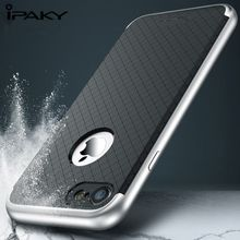купить Rugged Armor Case For iPhone 7, IPAKY TPU + PC 2 In 1 Ultra Thin Exact-Fit Dotted Cover Grids Texture SGP Case For iPhone 7 дешево