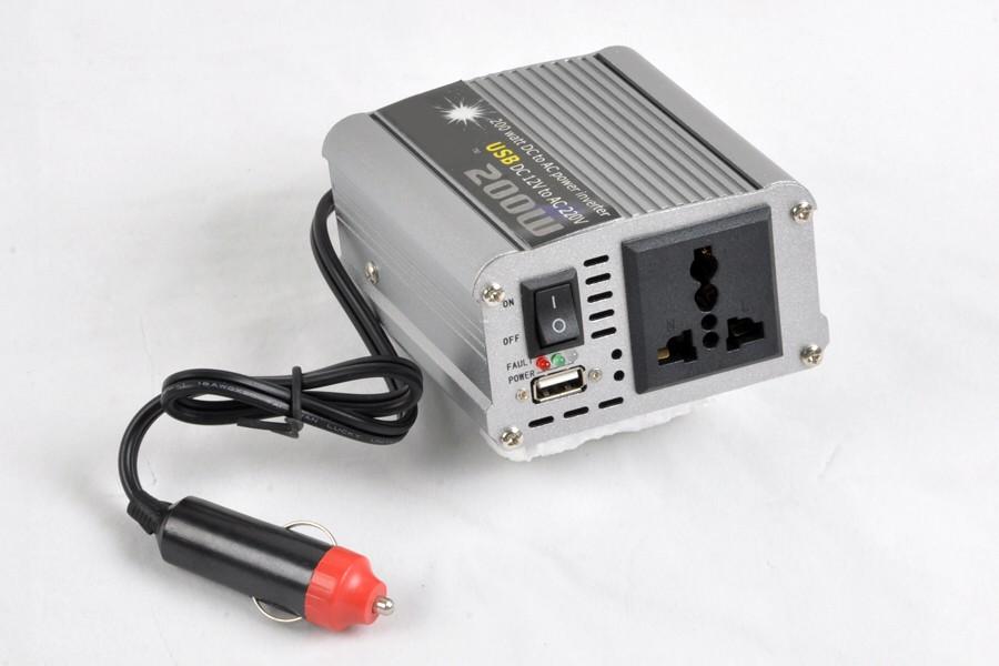 для 200 вт автомобиля инвертер с USB-адаптер переменного тока конвертер 100% новый [cp131