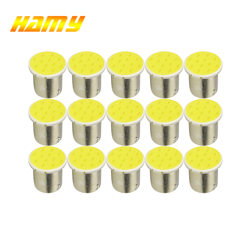 10pcs 1156 Reverse Turn Signal lamp Car Light for car COB P21W Led BA15S Bulbs External Lights Auto Car Parking Lamps White B auto car styling 4x cob p21w led 12smd 1156 ba15s truck strobe led fog lights hid error free car side wedge car styling jul 19