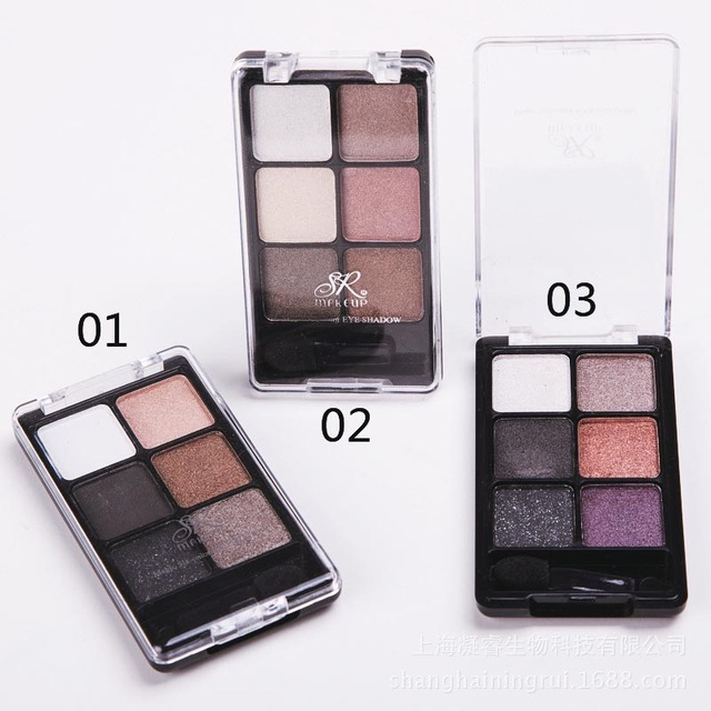 New Fashion Professional 6 Color Glitter Eye Shadow