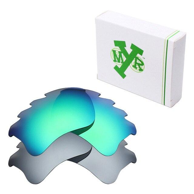 2 Pairs MRY ПОЛЯРИЗОВАННЫХ Сменные Линзы для Oakley Бронежилет Xlj Вентилируемый Солнцезащитные Очки Серебро Титана и Изумрудно-Зеленый