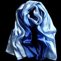 2016 Fashion Silk Shawls and Scarves Gradient Color Design hijab High Quality Women Scarf Luxury Brand 180*90cm Large size
