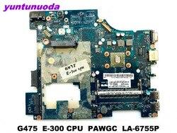 Оригинал для Lenovo G475 материнская плата для ноутбука G475 E-300 CPU PAWGC LA-6755P протестирована хорошая бесплатная доставка