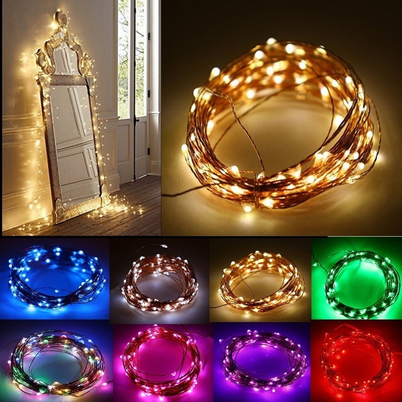 3m copper wire 30 led string lights christmas decorations for home new year wedding decoration navidad home decor kerst q - Copper Christmas Decorations