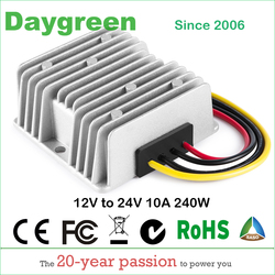 12V TO 24V 10A STEP UP BOOST MODULE CONVERTER  12VDC TO 24VDC 10AMP FOR AUTOMOTIVES  H10-12-24 Daygreen CE Certificated