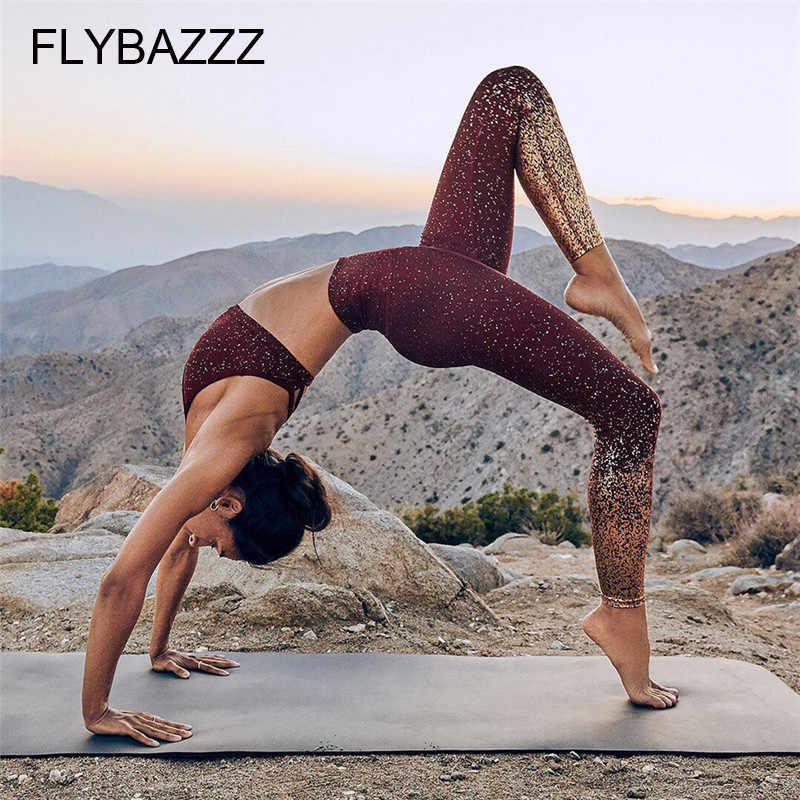 Độ Sáng Bóng Vàng In Hình Quần Tập Yoga Nữ Tập Gym Thể Thao Quần Legging Thon Ôm Colorvalue Gợi Cảm Quần Áo Cho Nữ Siêu Co Giãn Tập Gym Quần Năng Lượng
