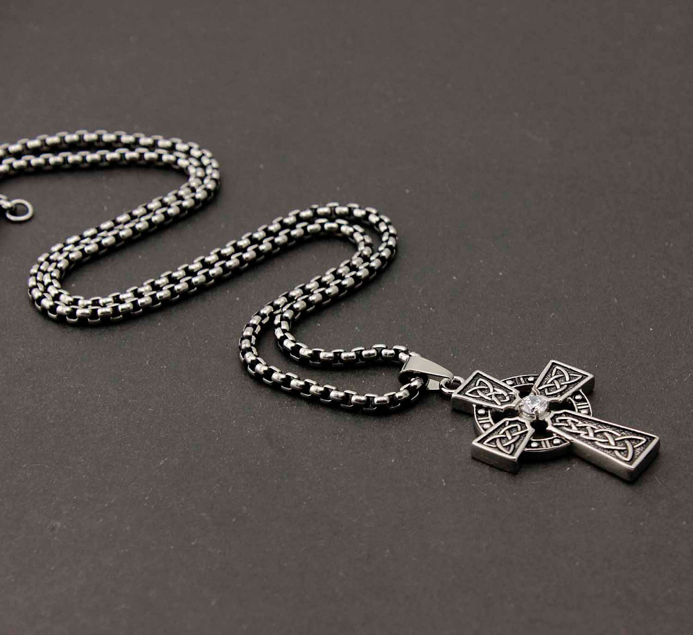 Mens 316l stainless steel vintage celtic cross pendant necklace in mens 316l stainless steel vintage celtic cross pendant necklace in pendants from jewelry accessories on aliexpress alibaba group aloadofball Images