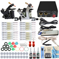 ITATOO Pens CompleteTattoo Kit Tattoo Machine Set Kit Tattooing Ink Machine Gun Supplies For Weapon Professional Set TK108006