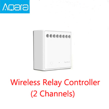 Original Xiaomi Aqara Control RelayTwo-way control module Wireless Relay Controller 2 channels Work For Mijia APP and Home kit