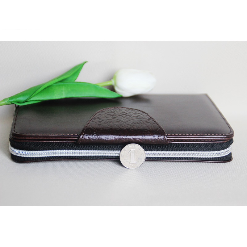 A6 UK Style Multi Function Zip fauxLeather Spiral Filofax Notebook Portable Agenda Planner Organizer Lock Code uk zip