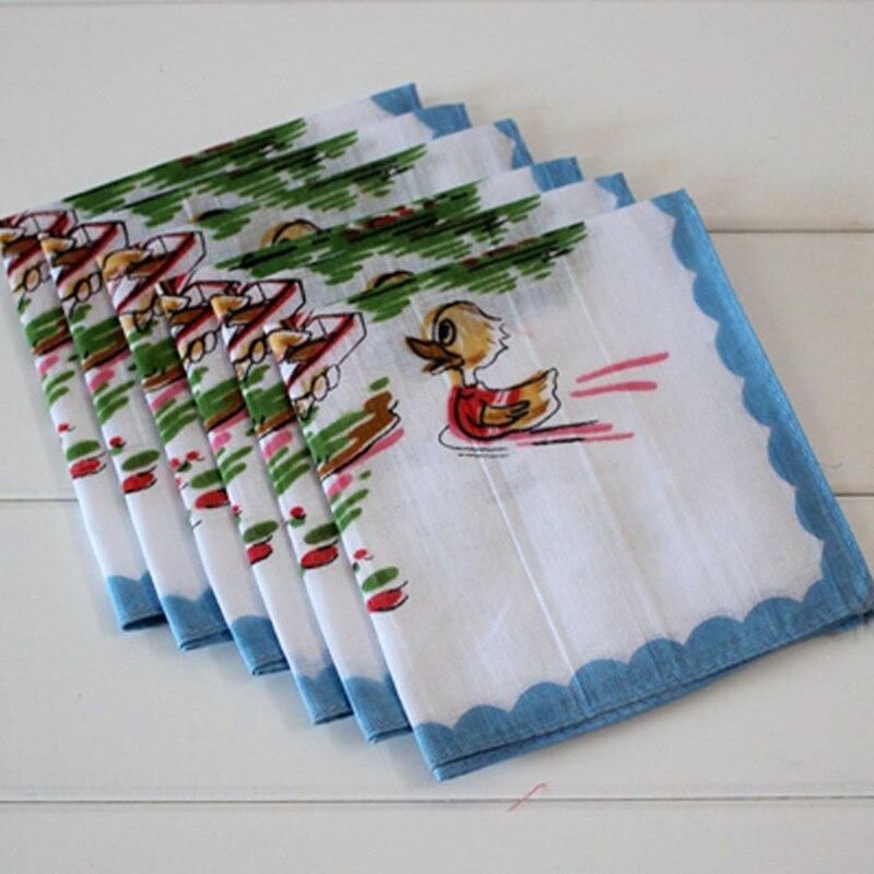 Children's Handkerchief Cotton Animal Panda Soft And Comfortable Cotton Child Handcuffs 10Pcs/Lot