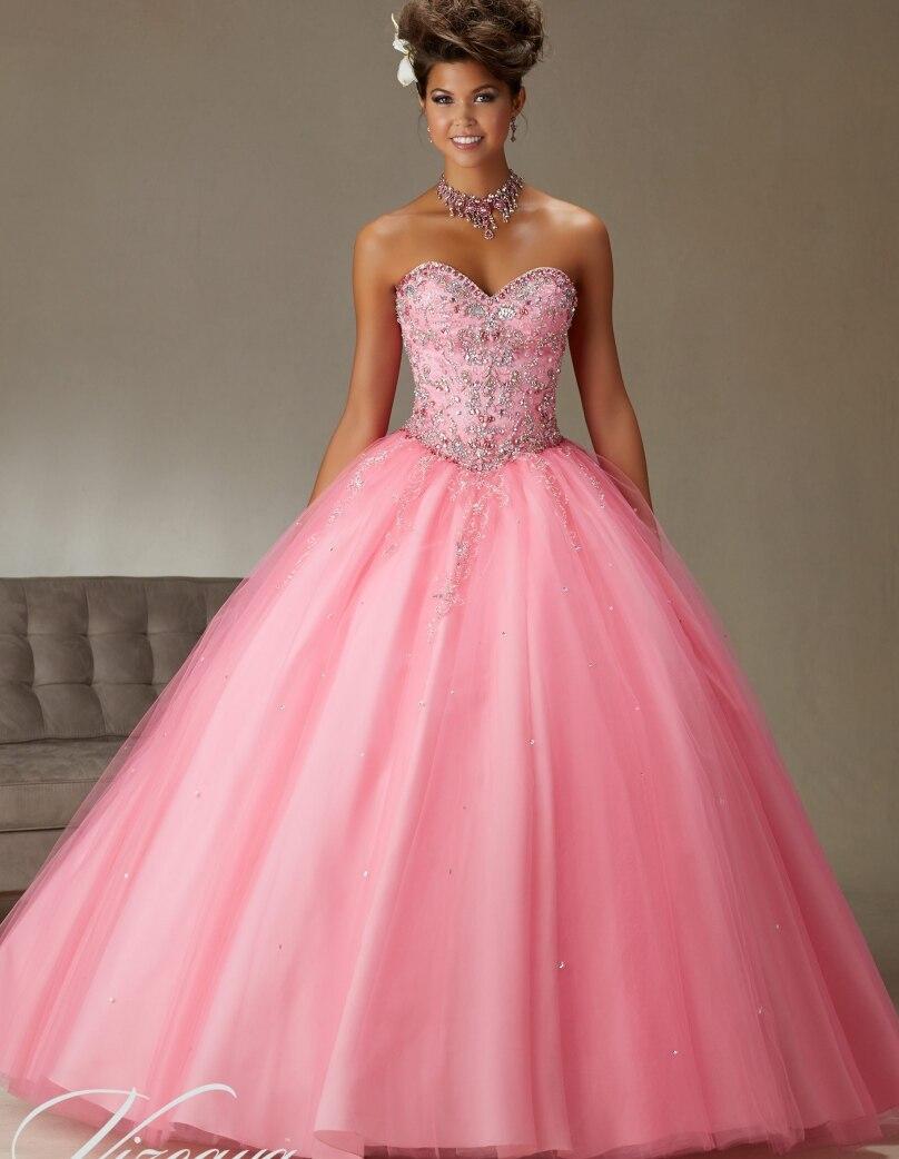 Barato coral vestidos de quinceanera sweet 16 vestidos de princesa ...