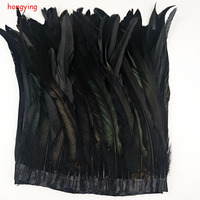 2 meter long rooster feathers 30 35 cm wide natural 20 color DIY chicken feather jewelry plume feather cloth belt