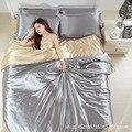 Tejidos Tencel, estilo simple, disfrute noble juegos de cama full/Queen Size 4 unids ropa de Cama ropa de Cama Edredón Conjunto