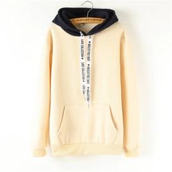 Oversized Hoodies Women Korean Harajuku Hooded Sweatshirt Long Sleeve Color Matching Autumn Winter 2018 Tops Female Tracksuits 4