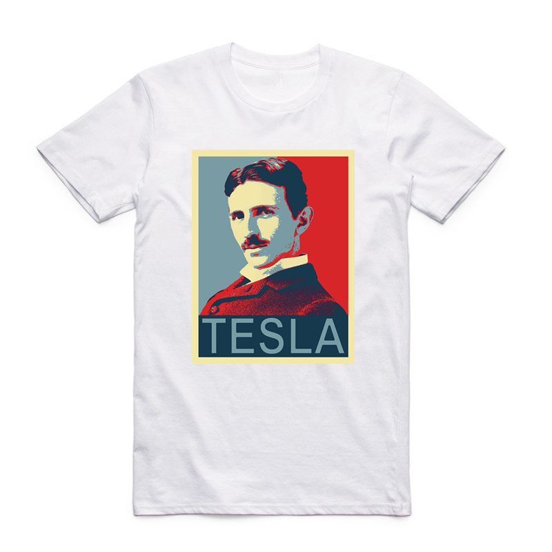 Asian Size Men And Women Printing Nikola Tesla   T  -  shirt   O-Neck Short Sleeves Serbian American Inventor Physics Tshirt HCP4138